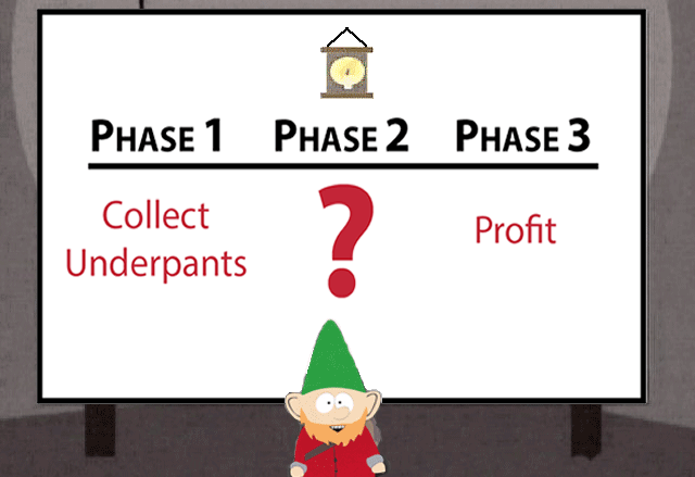 Product managers are the Underpants Gnomes of an organization